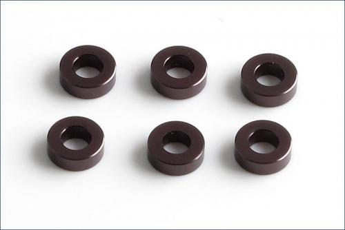Scheiben Alu, 3x6x2mm grau (6) Kyosho W-0142GM