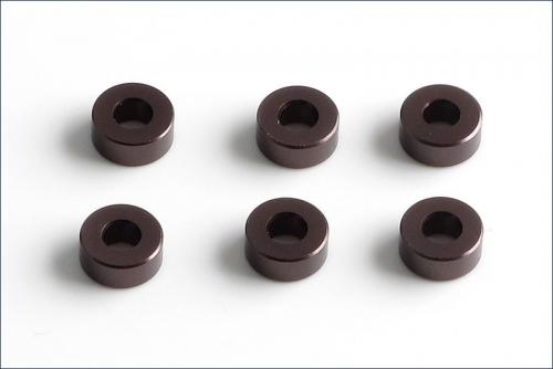 Scheiben Alu, 3x7x3mm grau (6) Kyosho W-0143GM