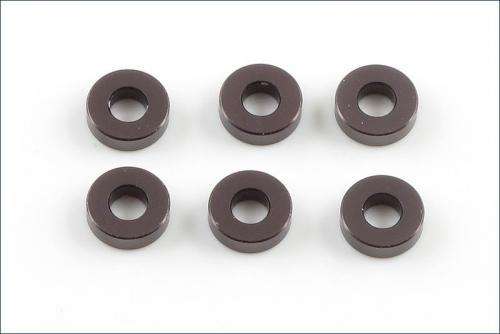 Scheiben Alu, 3x7x2mm grau (6) Kyosho W-0144GM