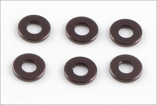 Scheiben Alu, 3x7x1mm grau (6) Kyosho W-0145GM