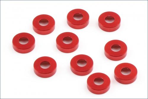 Unterlegscheiben rot (10) Kyosho W-0146R