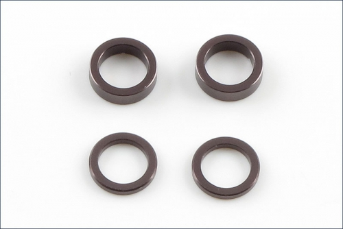 Scheiben Alu, 5x7x1mm, 2mm, grau (2) Kyosho W-0149GM