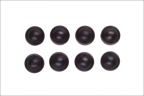 Daempferkappen schwarz (8) Kyosho W-6006