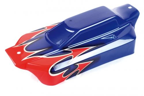 Karosserie lackiert rot/blau - S10 BX LRP 120945