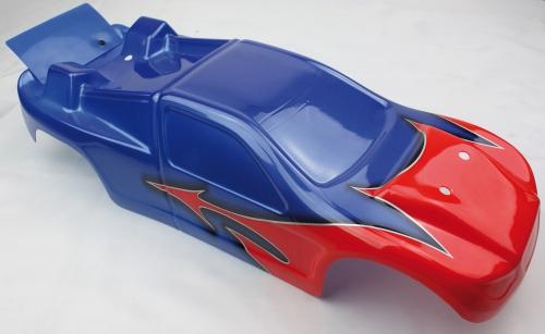 Karosserie lackiert rot/blau - S10 TX LRP 120988