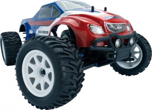 Karosserie lackiert rot/blau - S10 MT LRP 122102