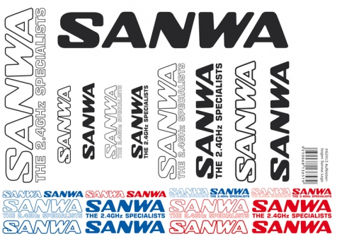 Aufkleberbogen Sanwa Logo (DIN A4) LRP 62413
