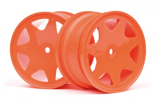 Ultra 7 Felgen orange 35mm (2S/Brama10B) hpi racing H100623