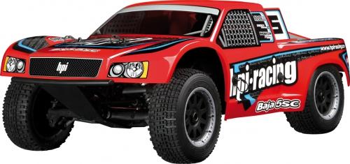 Baja 5SC 2.4GHz mit SC-1 Karo (rot) hpi racing H105235