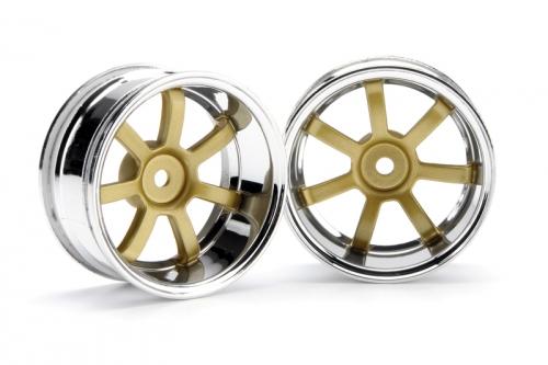 RG Lights 57S-Pro Felge chr./gold (9mm) hpi racing H3321