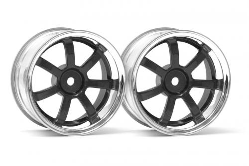 RG Lights 57S-Pro Felge chr./schw. (6mm) hpi racing H3323