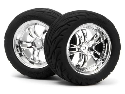 Radialreifen+Chromfelgen 1P MiniZilla hpi racing HB70482