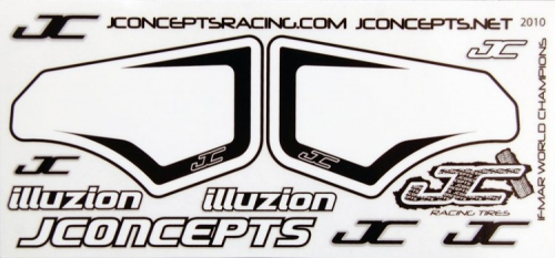 JConcepts Decal Sheet (number plates) LRP J2010
