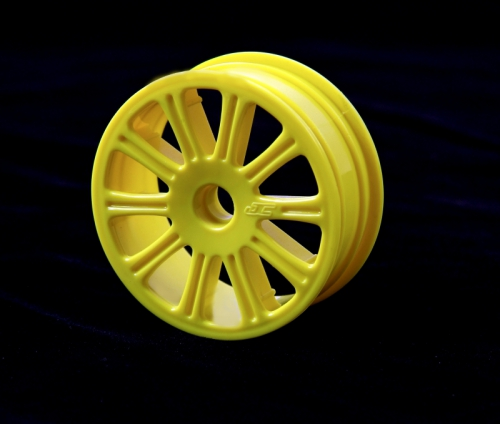 Rulux - 1/10th RC10B4 front wheel (yello LRP J3305Y