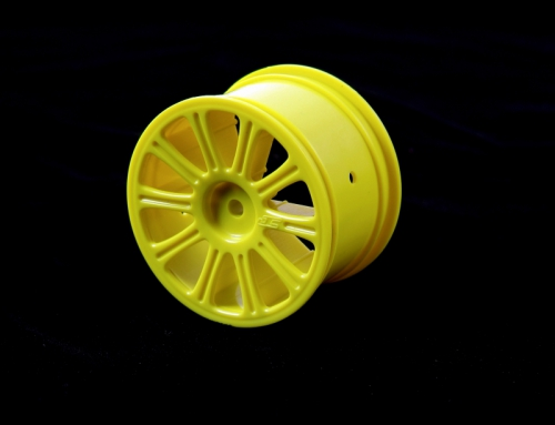Rulux - 1/10th RC10B4 rear wheel (yellow LRP J3306Y