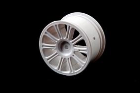 Rulux - 1/10th RC10B4 rear wheel (white) LRP J3306