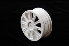 Rulux - 1/10th B44 front wheel (white) - LRP J3307