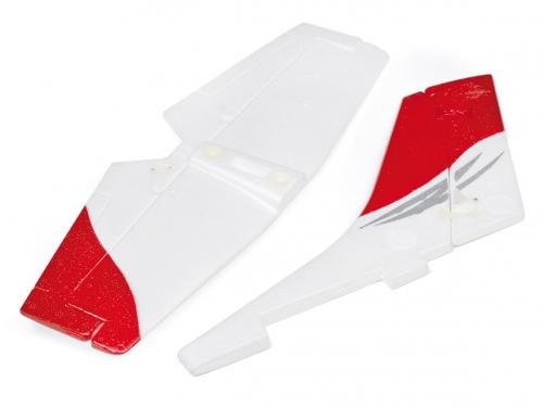 Tail Wing Set (Red), (Rudder & Elevator LRP ML45019