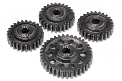 HD Stahl Mittelgetr. Zahnräder(Black MT) LRP MV24156