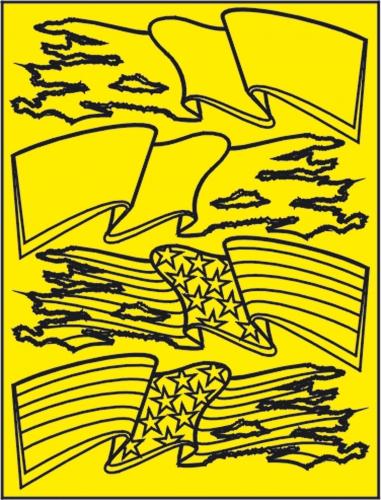 Flaggen Lackierschablone LRP XM045L