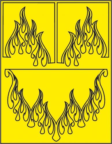Tribal Flames Lackierschablone LRP XM055L