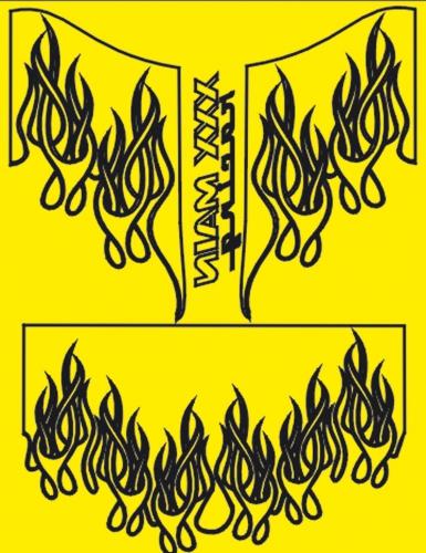 Pro Flames Lackierschablone LRP XM060L