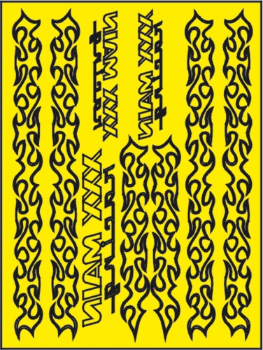 Tribal Stripes Lackierschablone LRP XM061L