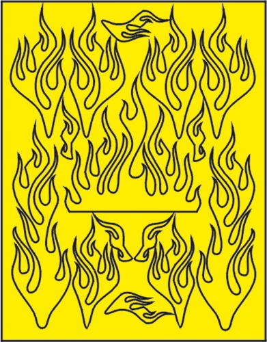 X-Flames Lackierschablone LRP XM062L