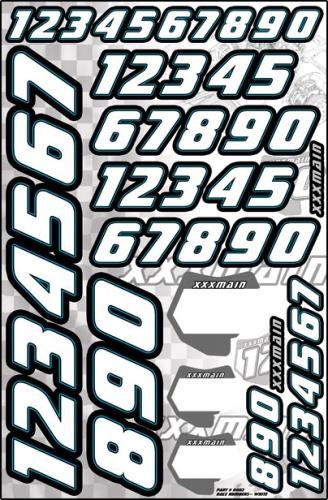 Race Startnummeraufkleber (weiss) LRP XN002