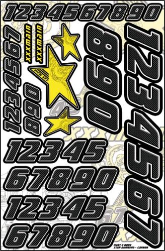 Star Startnummeraufkleber (Carbon) LRP XN003