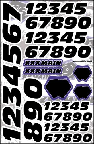Moto Startnummeraufkleber (schwarz) LRP XN004