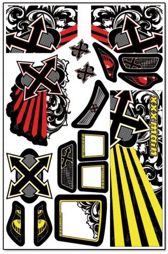 Xplosion Truggy X-Wrapz (gelb) LRP XW001Y