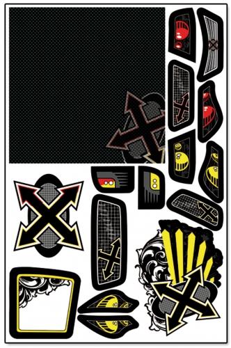 Xplosion MT X-Wrapz (gelb) LRP XW002Y