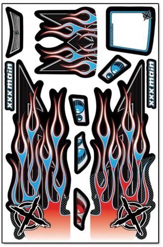 Ignite Truggy X-Wrapz (blau) LRP XW005B