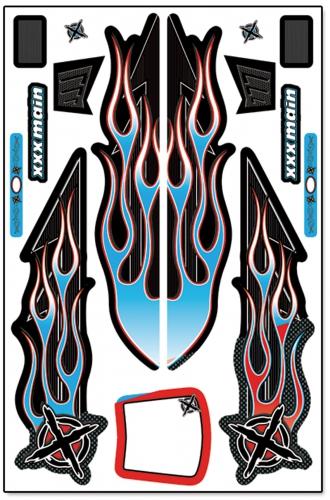 Ignite 1/8 Buggy X-Wrapz (blau) LRP XW007B