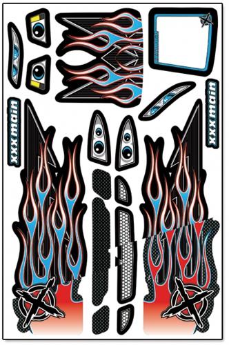 Ignite Touring X-Wrapz (blau) LRP XW008B