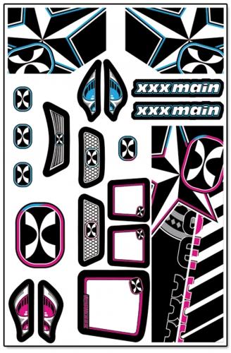 Darkstar Truggy X-Wrapz (grau/pink) LRP XW009P