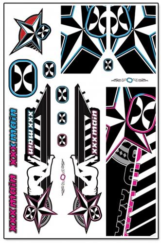 Darkstar 1/8 Buggy X-Wrapz (grau/pink) LRP XW011P