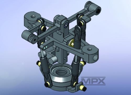 Alu-Rotorkopf FunCopter Multiplex 223040