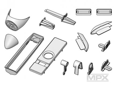 Kunststoffteilesatz (ohne Rumpfdeckel) M Multiplex 224104