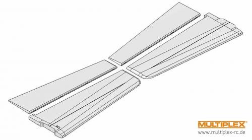 Tragflächen ParkMaster 3D Multiplex 224133