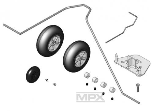 Fahrwerkssatz EasyCub Multiplex 224142