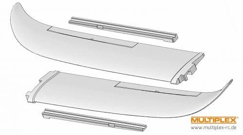 Tragflächen-Formteile EasyGlider+Electric Multiplex 224159