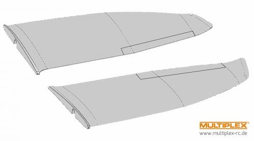 Tragflächensatz FunGlider Multiplex 224275