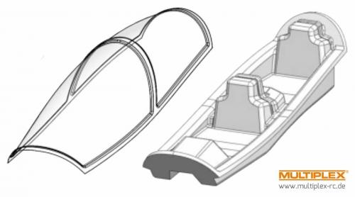 Kabinenhaube TUCAN mit Cockpitwanne Multiplex 224282