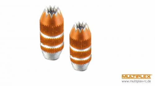 SMART SX Knüppelgriffe Alu orange Multiplex 75306