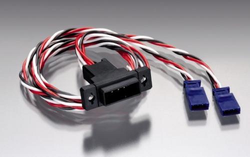 Futaba Flächenstecker für 2 Servos 30/50cm ripmax P-FC2WS3050