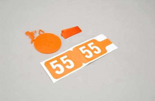 Futaba 35MHz Frequenz Fahne Ch 55 Slec P-SL065/55