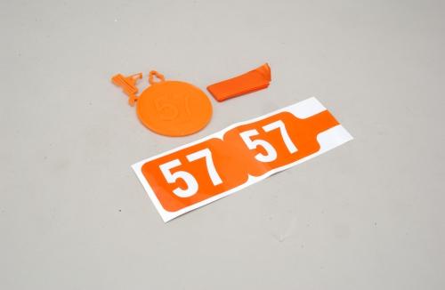 Futaba 35MHz Frequenz Fahne Ch 57 Slec P-SL065/57