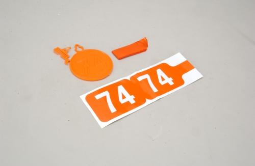 35MHz Frequenz Fahne Ch 74 Slec